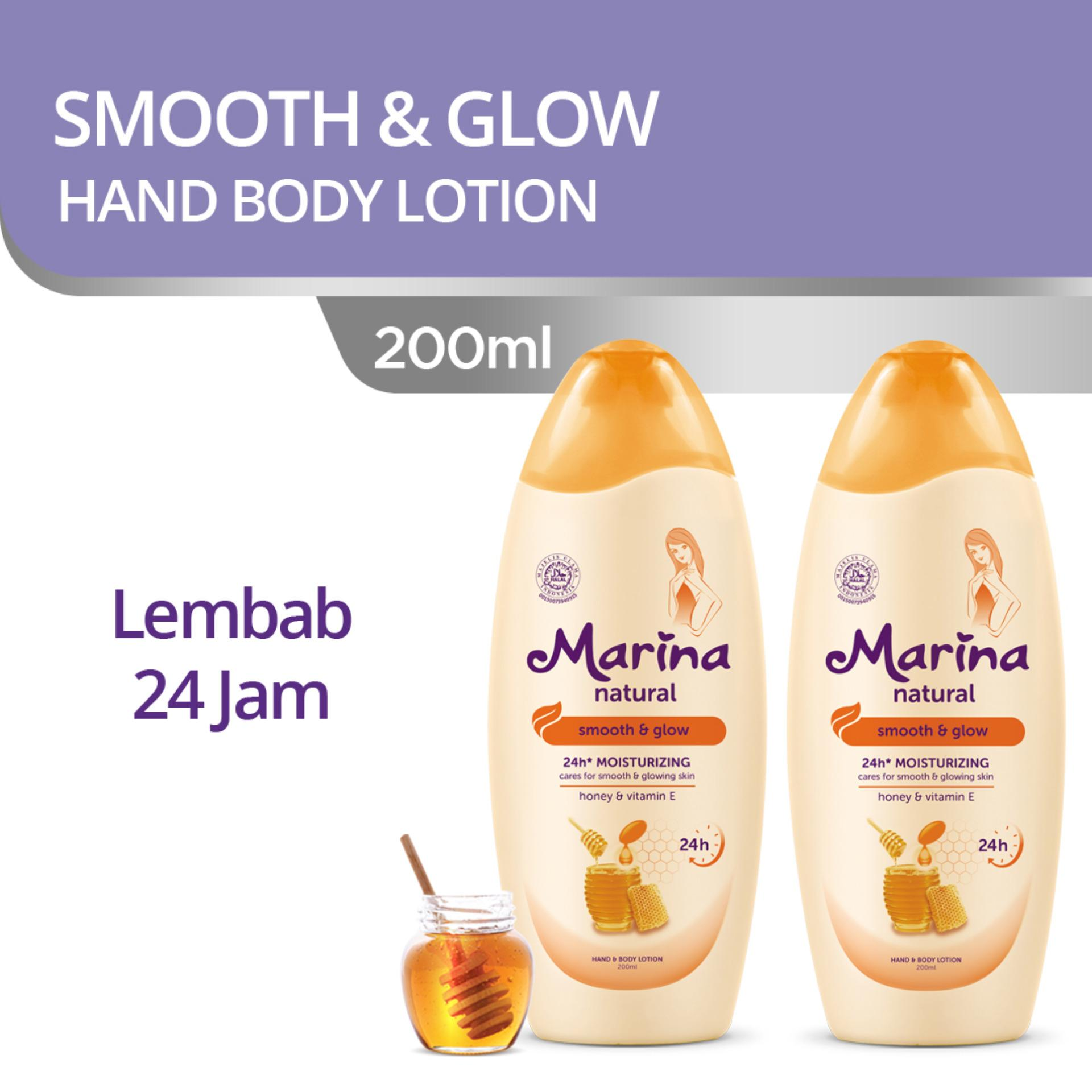 Marina Hand & Body Lotion Natural Smooth & Glow [200 mL/ isi 2]