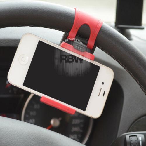 Rainbow Phone Holder Setir Mobil Tatakan Handphone Di Setir Mobil / Holder Stir Mobil / Universal Smartphone Stand  Tatakan HP Mobil - Random