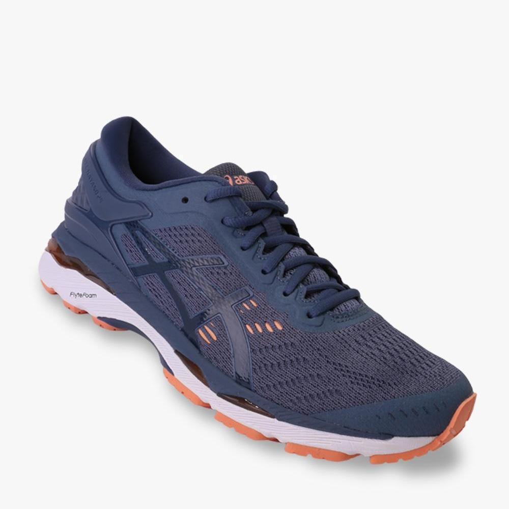 Asics Gel-Kayano 24 Sepatu Lari Wanita - Standard Wide - Navy