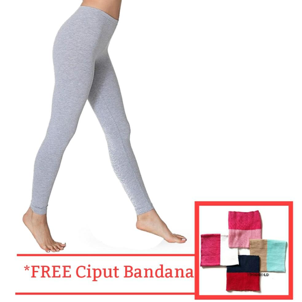 Tradeold Celana Legging Wanita - Lejing Polos Panjang