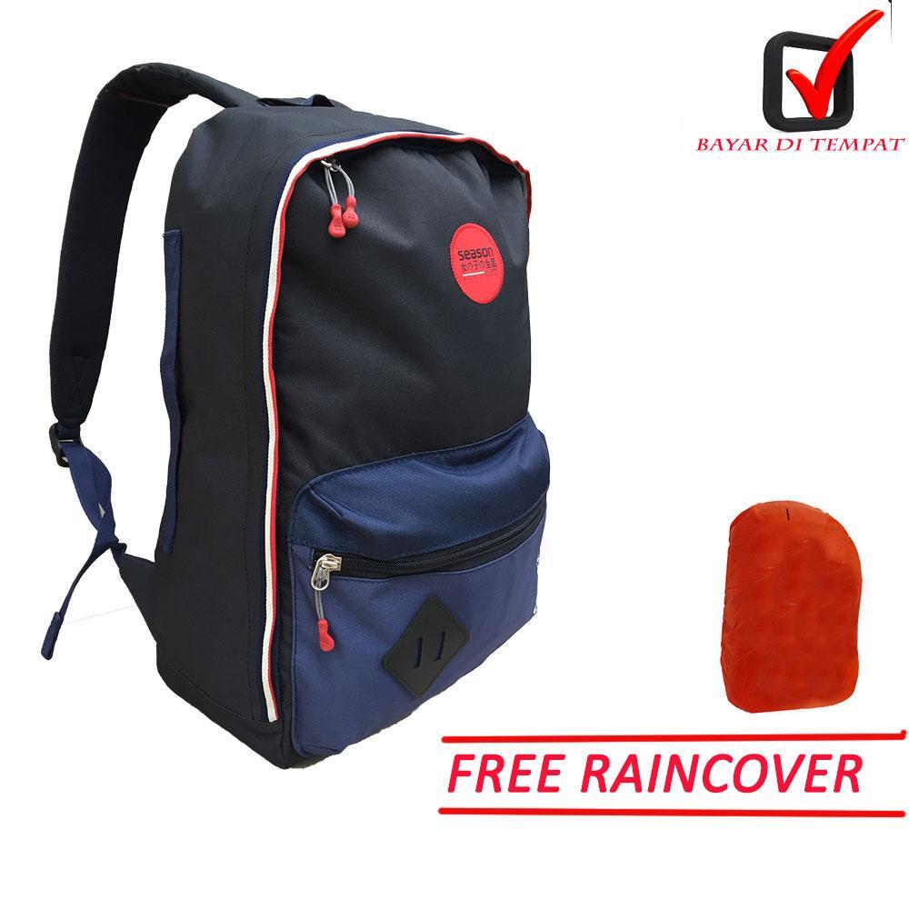 Tas Ransel Season Unisex, promo , Oroginal bisa untuk perempuan dan laki - laki free jas hujan dan sekat laptop 75146