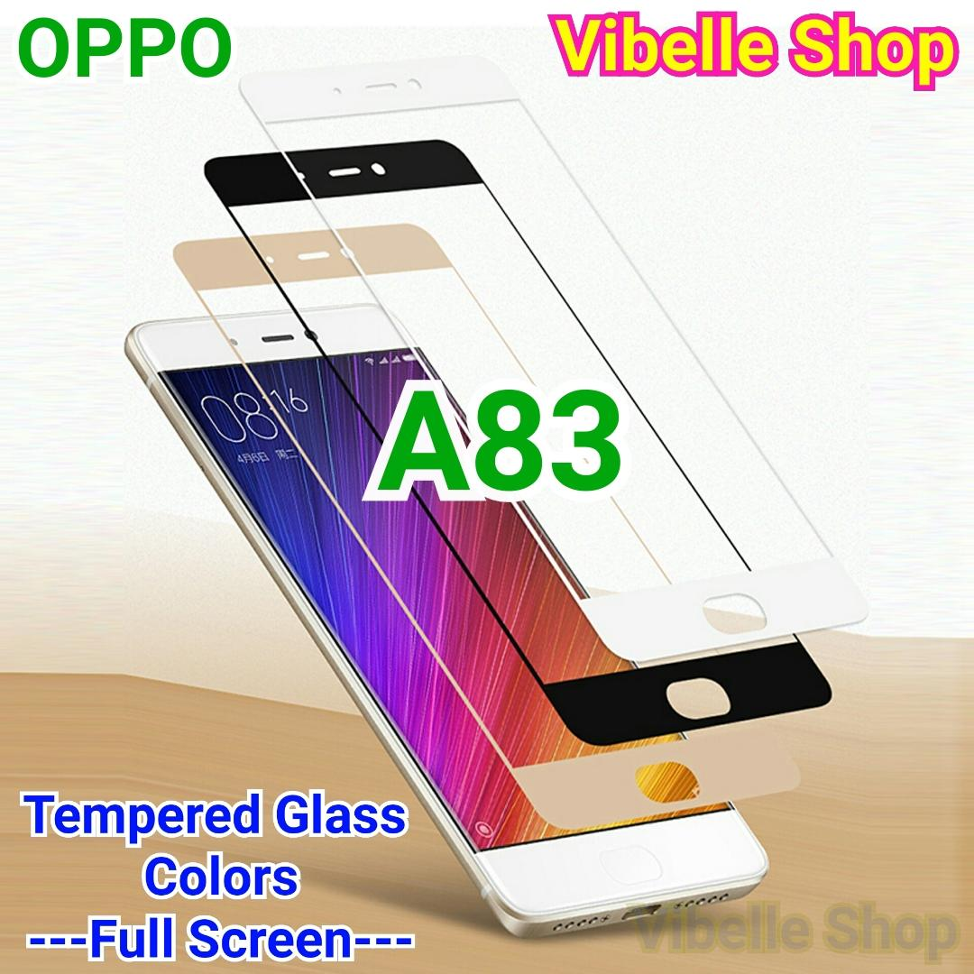 Tempered Glass Warna OPPO A83 FULL SCREEN COVER OPPO A 8 3