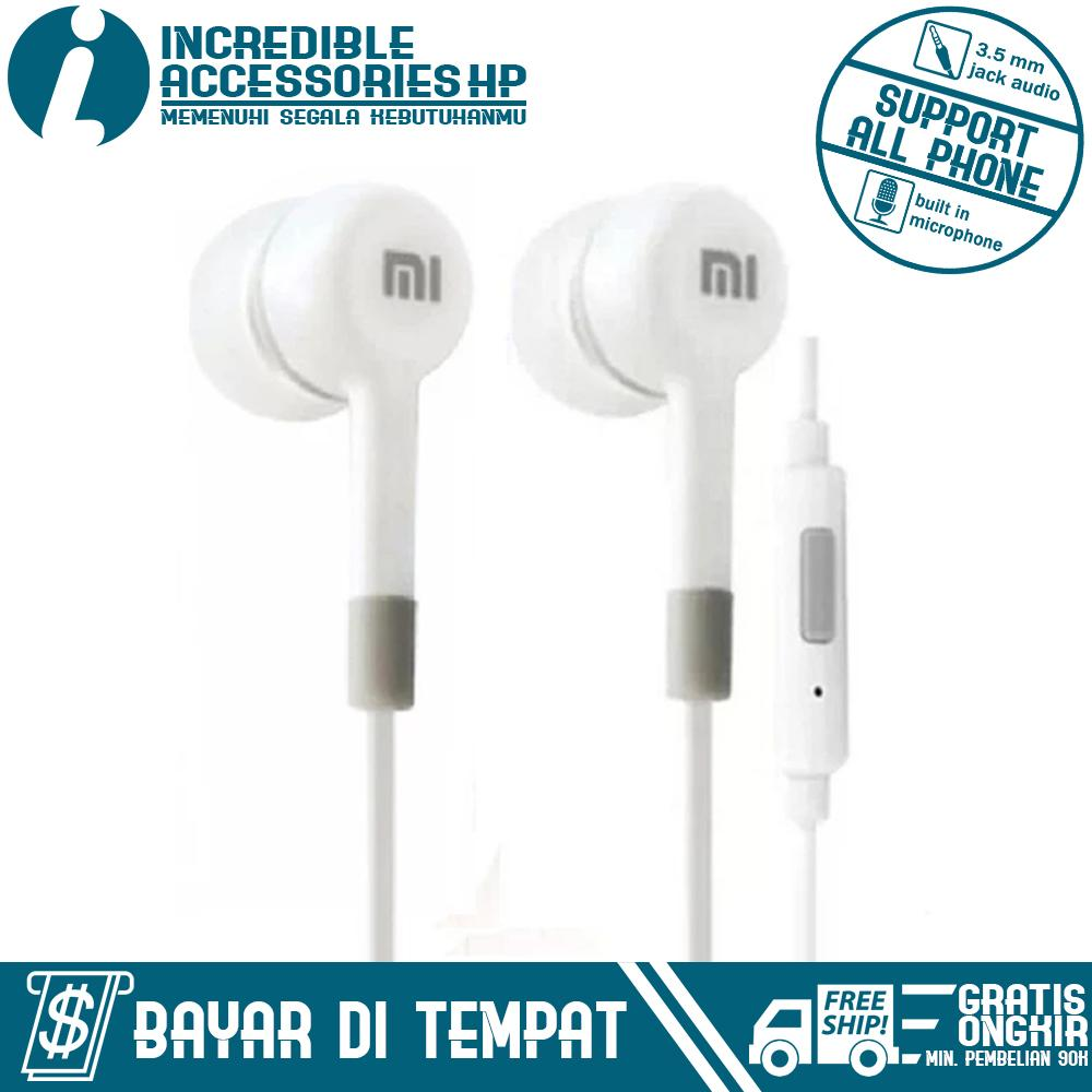 Incredible Headset for Xiaomi Handsfree Hifi 3.5mm Stereo Portable Headset/Earphone/In ear - Putih
