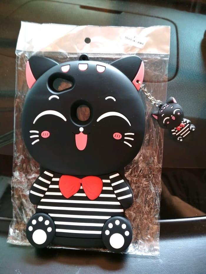 Case 4D Cat Costum Oppo F7 Soft 4D Boneka Kucing f7