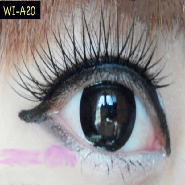 Warna Mata Softlens Geo Xtra Sakura Black Hitam 15Mm Wi-A20