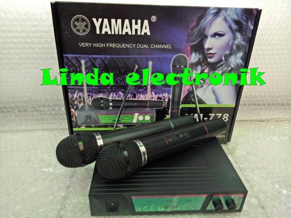 Mic Wireles Double UHF Mic wireless yamaha ym 778 suara mantap