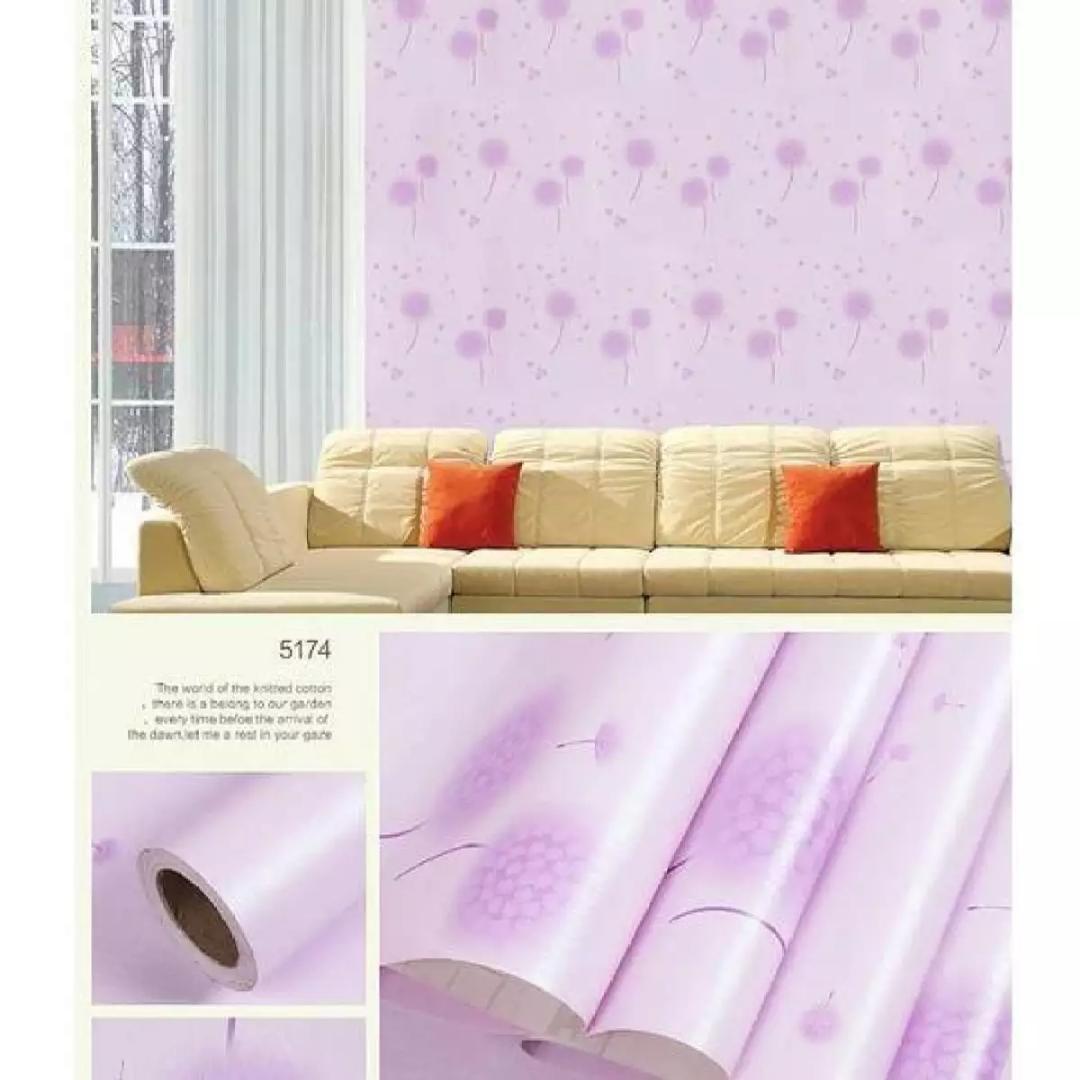 NAP - Wallpaper Stiker Dinding Motif Dan Karakter Premium Quality Size 45cm X 10M BUNGA SAKURA