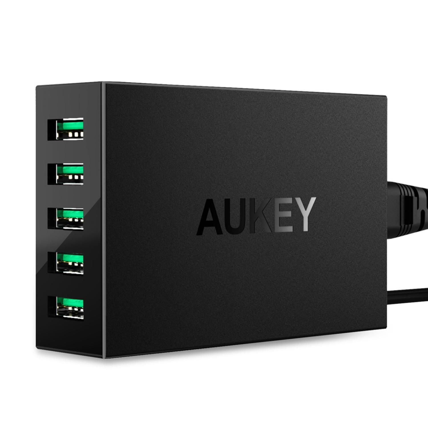 Aukey USB Charging Station 5 Port with AIPower Tech - PA-U33 Charger Mobil Murah
