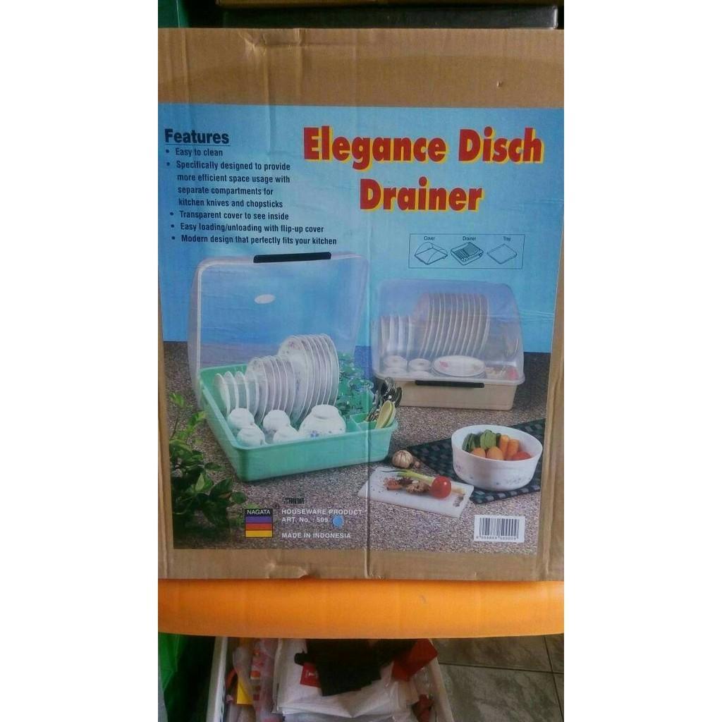 Rak Piring Nampan Tutup (Elegance Dish Drainer) - L1ta6x