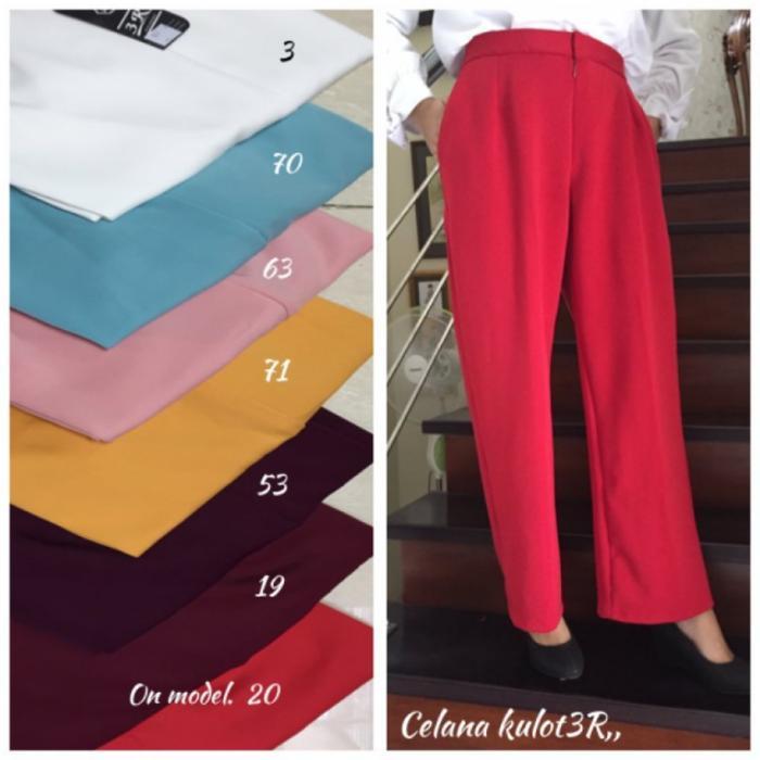 PROMO Celana Kulot Panjang Wanita Medium Size S / M / L / XL TERLARIS