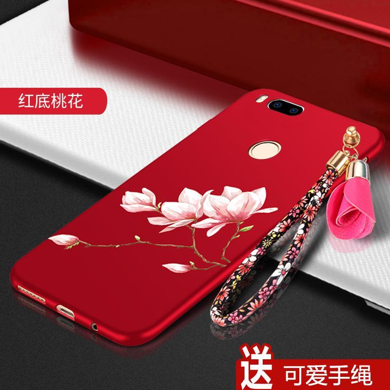 Lima Selubung Ponsel Xiaomi Selubung Xiaomi Imut Silikon Merah Anti Jatuh Lulur Lembut Bungkus Penuh