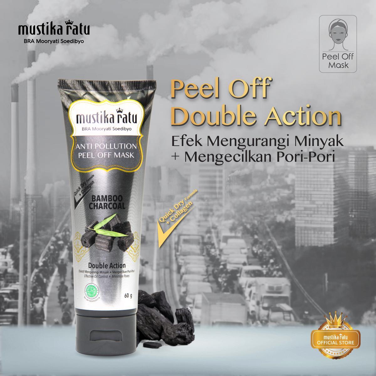 Peel Off Mask Anti Pollution Bamboo Charcoal 60gr Mustika Ratu