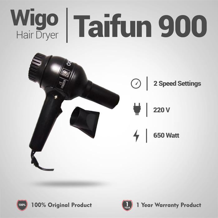Hairdryer / Hair Dryer Wigo Taifun 900 350watt/ Pengering Rambut/ Pemanas Styling Rambut/ Hair Dryer Rumah/ Perawatan Rambut