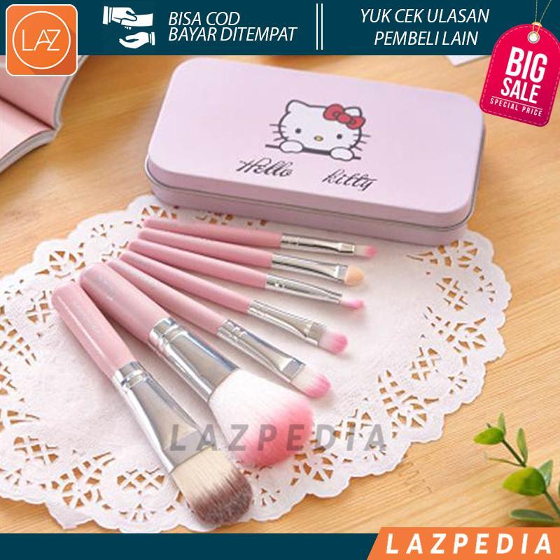 Laz COD - Kuas Hello Kitty / Hello Kitty Brush / Hellokitty Kaleng [ ISI 7 PCS ] Kuas Unik dan Lucu