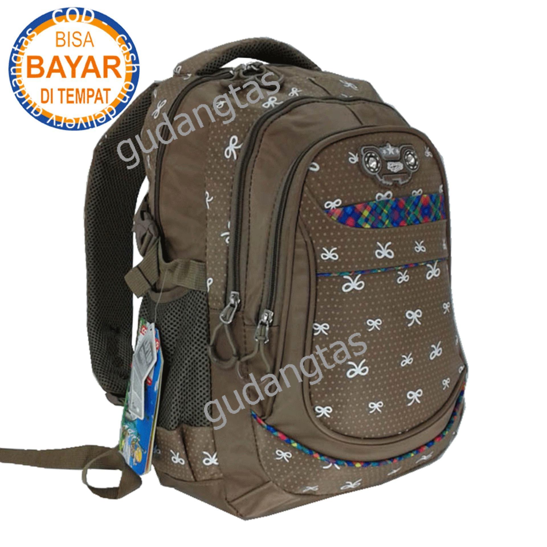 Alto Backpack Super Tas Sekolah Tas Kuliah Tas 730V0V Ransel Laptop  COKLAT Raincover