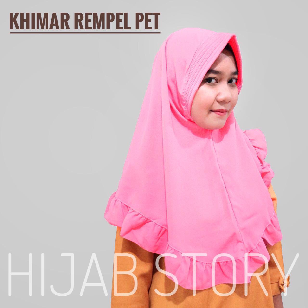 HIJAB STORY KERUDUNG INSTAN Rempel Pet Khimar jilbab wolfis HIJAB kerudung rempel INSTANT
