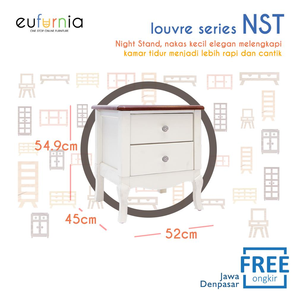 Eufurnia Olympic Louvre Series Night Stand Nakas Putih European Style - NST 0871133