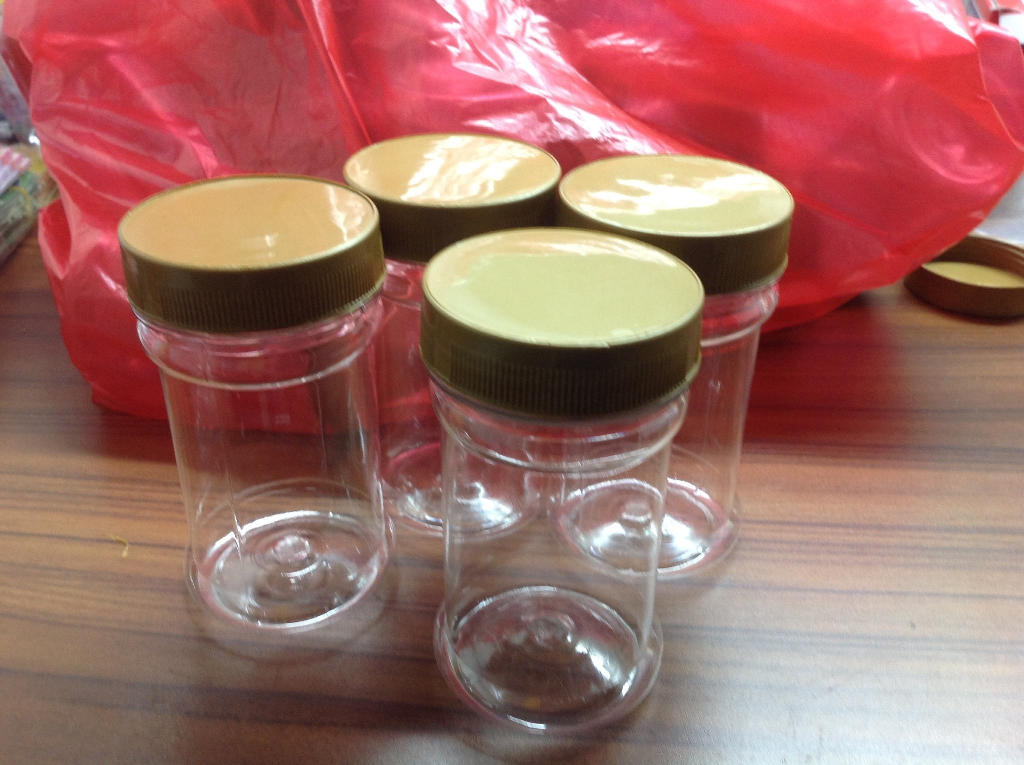 Toples/jar/botol plastik 200ml tinggi/lada/bubuk cabe/bawang goreng