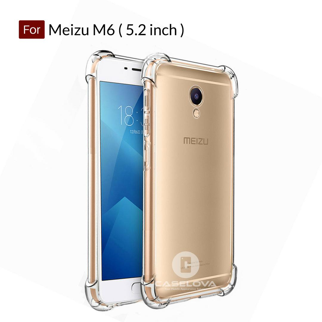 Caselova Anti Crack TPU Shockproof Case for Meizu M6 ( 5.2 inch ) - Clear