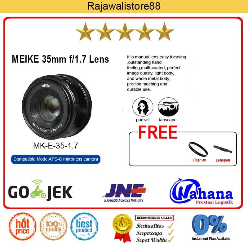 Lensa kamera Meike Lens Mk-35mm F/1.7 Manual Focus For Sony E Mount A5000/A6000