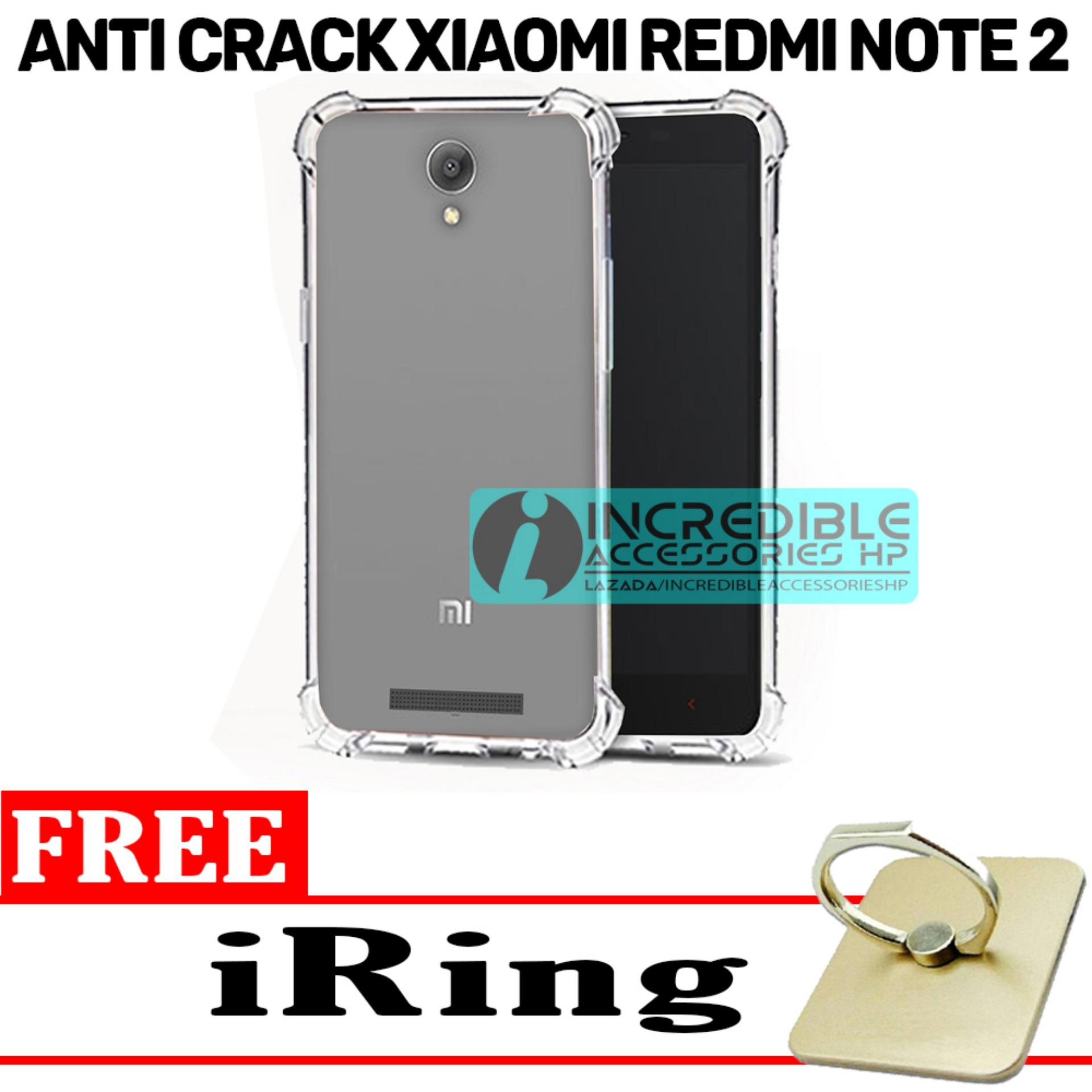 Case Anti Shock / Anti Crack Elegant Softcase for Xiaomi Redmi Note 2 - White Clear