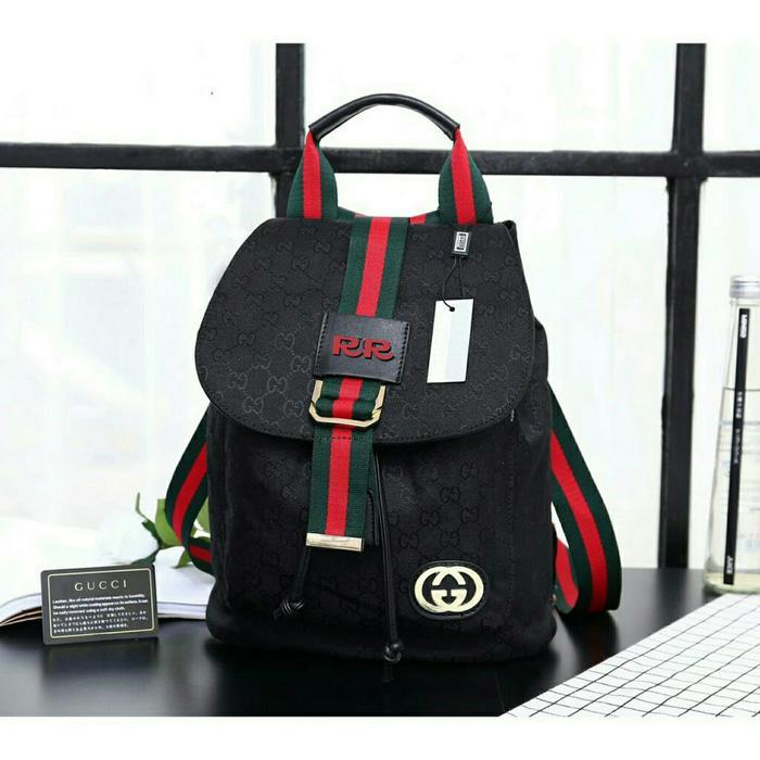 ... Keren Lagi Hits Hotlist Kanvas Backpack HitamIDR245000. Rp 249.900. Tas  Ransel Kanvas Gucci Wanita Promo Murah Terbaru LimitedIDR249900. Rp 250.000 44365152fe