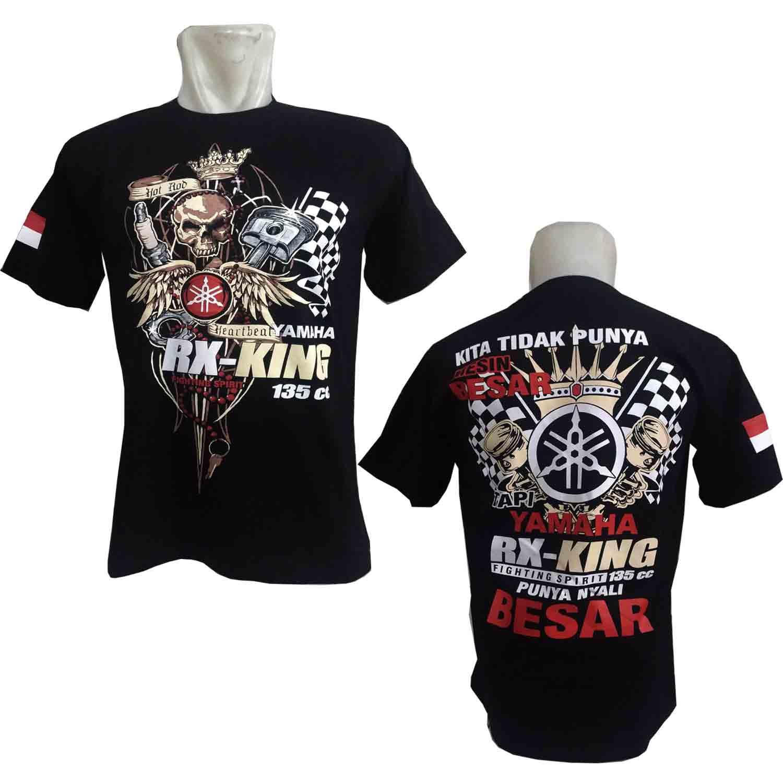 Kaos Rxking RX003 Baju Distro Otomotif Keren Baru Yamaha Motor BONUS Stiker CADEL Bandung