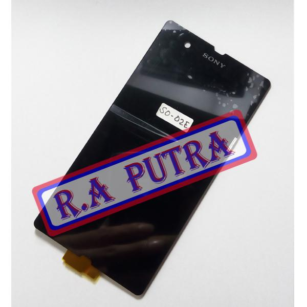 LCD SONY XPERIA Z DOCOMO SO-02E SO02E LCD TOUCHSCREEN LAYAR SENTUH ORIGINAL FULLSET