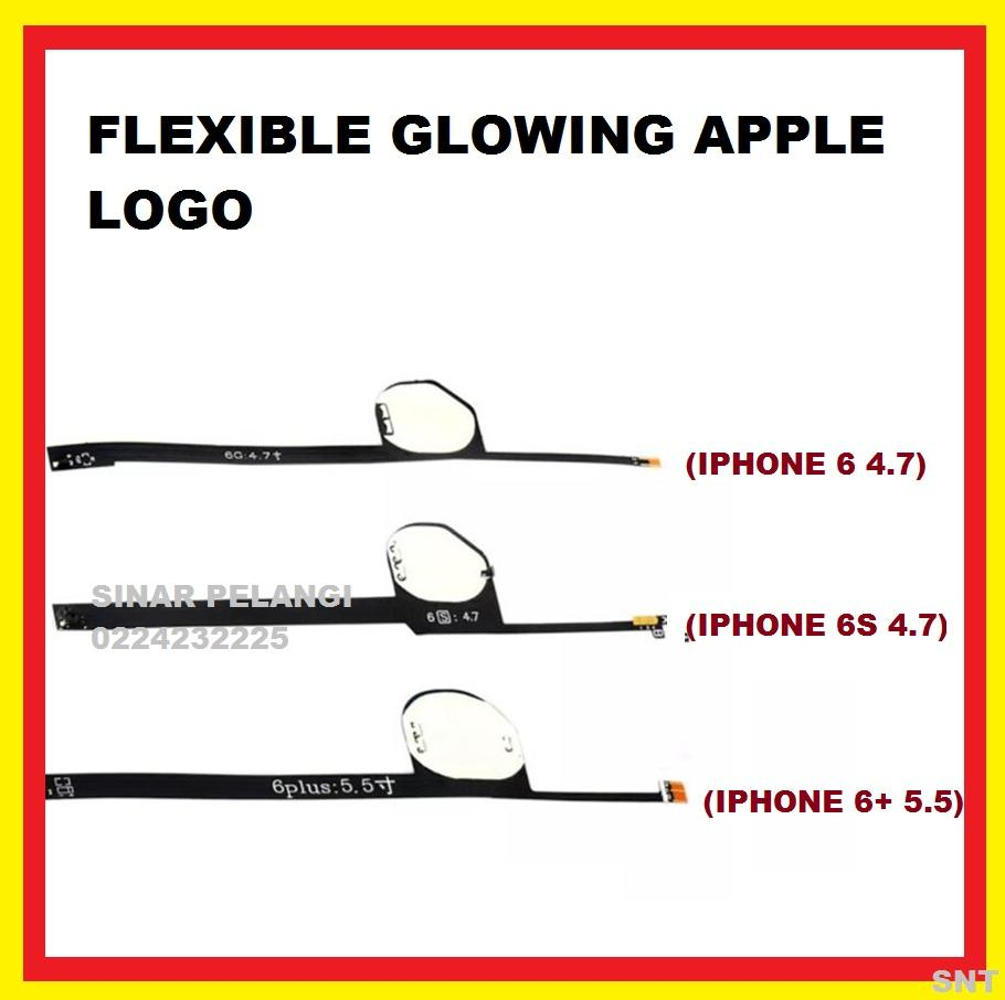 FLEXI IPHONE 6 4.7INCH GLOWING APPLE LOGO NYALA CAHAYA BERSINAR FLEX FLEXIBLE FLEKSI BIRU BLUE ORIGINAL 907581