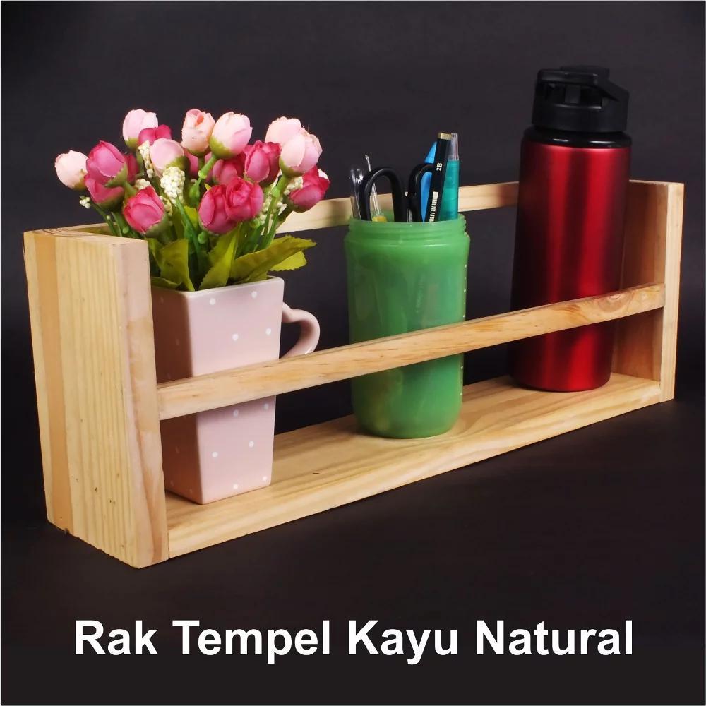 Bindow Furniture - Rak Dinding Kayu Rak Dinding Gantung Minimalis Rak Gantung