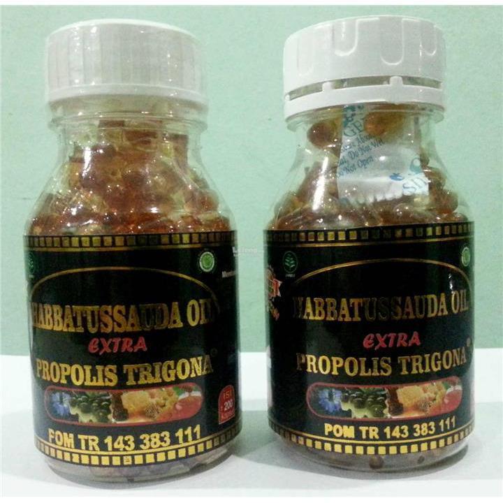 Habbatusasauda Extra Propolis Trigona Madu, propolis, zaitun, habbtusauda  60 kps paket 3 botol
