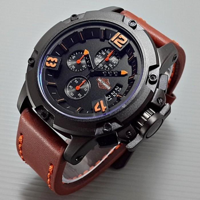 Jam Tangan Pria Harley Davidson Triple Time - Cltu8u