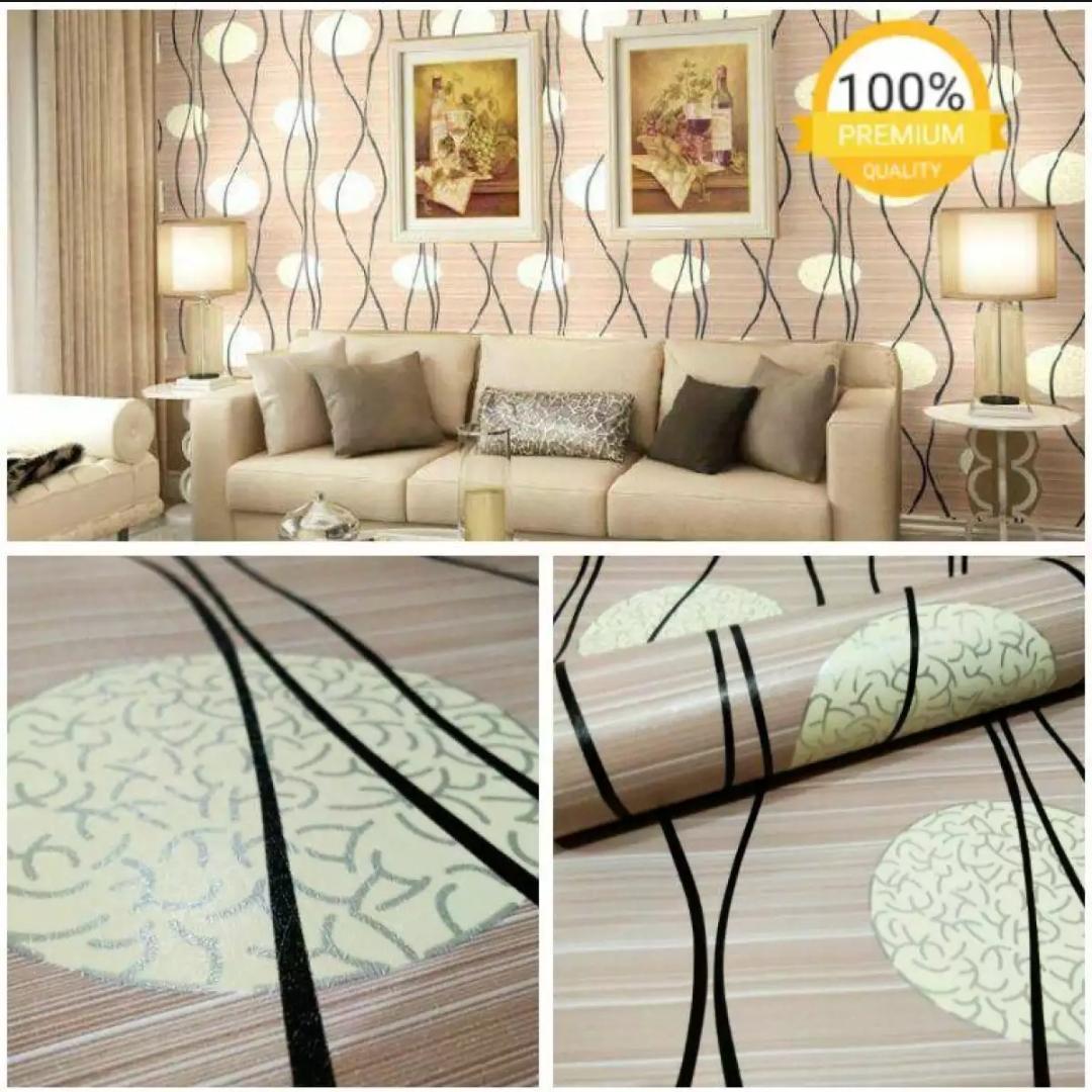 Wallpaper Stiker Dinding Motif Dan Karakter Premium Quality Size 45cm X 10M Folkadot Mocha Baby085