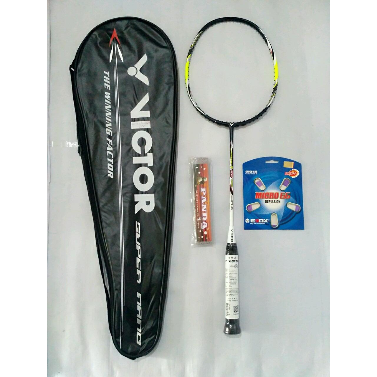 Raket Badminton Victor Hypernano X 500 free tas senar dan grip