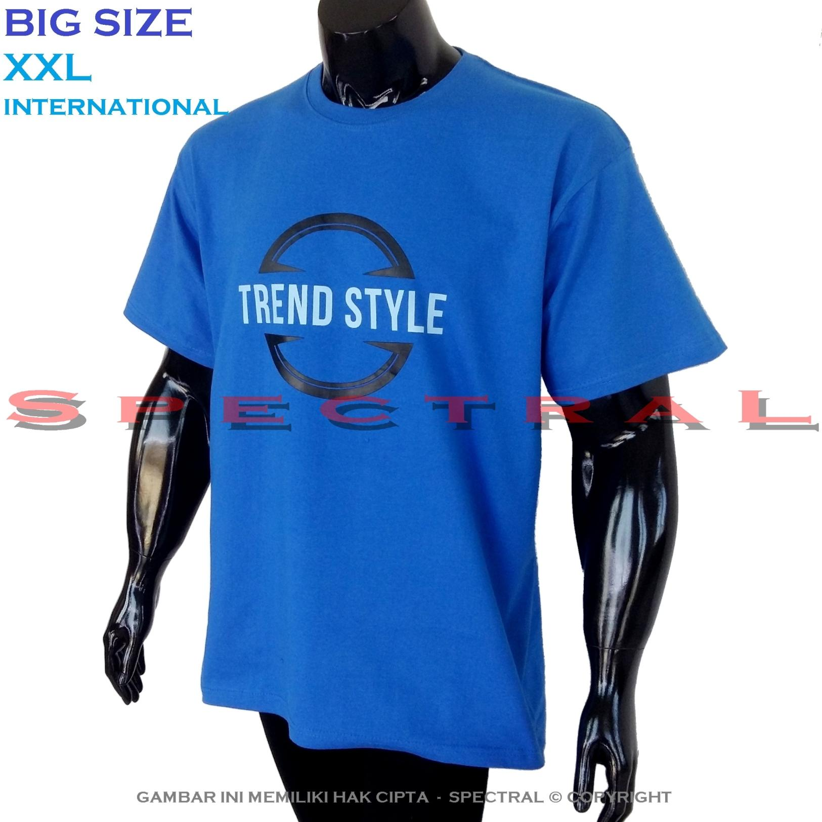 Spectral – BIG SIZE XXL INTERNATIONAL Bapak Orang Tua Gemuk 100% Soft Cotton Combed Kaos Distro Jumbo BIGSIZE T-Shirt Fashion Ukuran Besar Polos Celana Atasan Pria Wanita Katun Gendut Lengan Simple Sport Casual 2L 2XL Baju Cowo Cewe Pakaian Terbaru TREND
