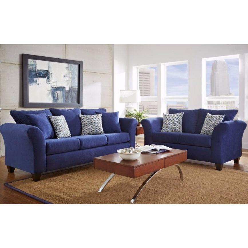 kursi sofa minimalis biru tua