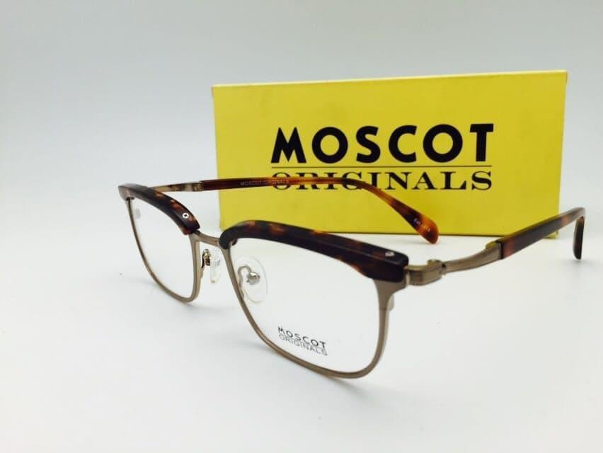 Terbaru Frame Kacamata Minus Moscot Pria Wanita Hitam Kilap - High Quality