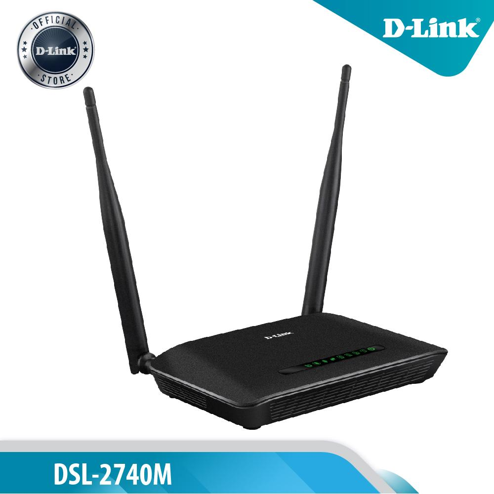D-Link DSL-2740M N-300 Wireless ADSL2+ Modem Router