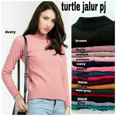 vshopjkt Turtle jalur pj Fashionable blouse bagus blus bagus kualitas baik baju wanita atasan wanita top