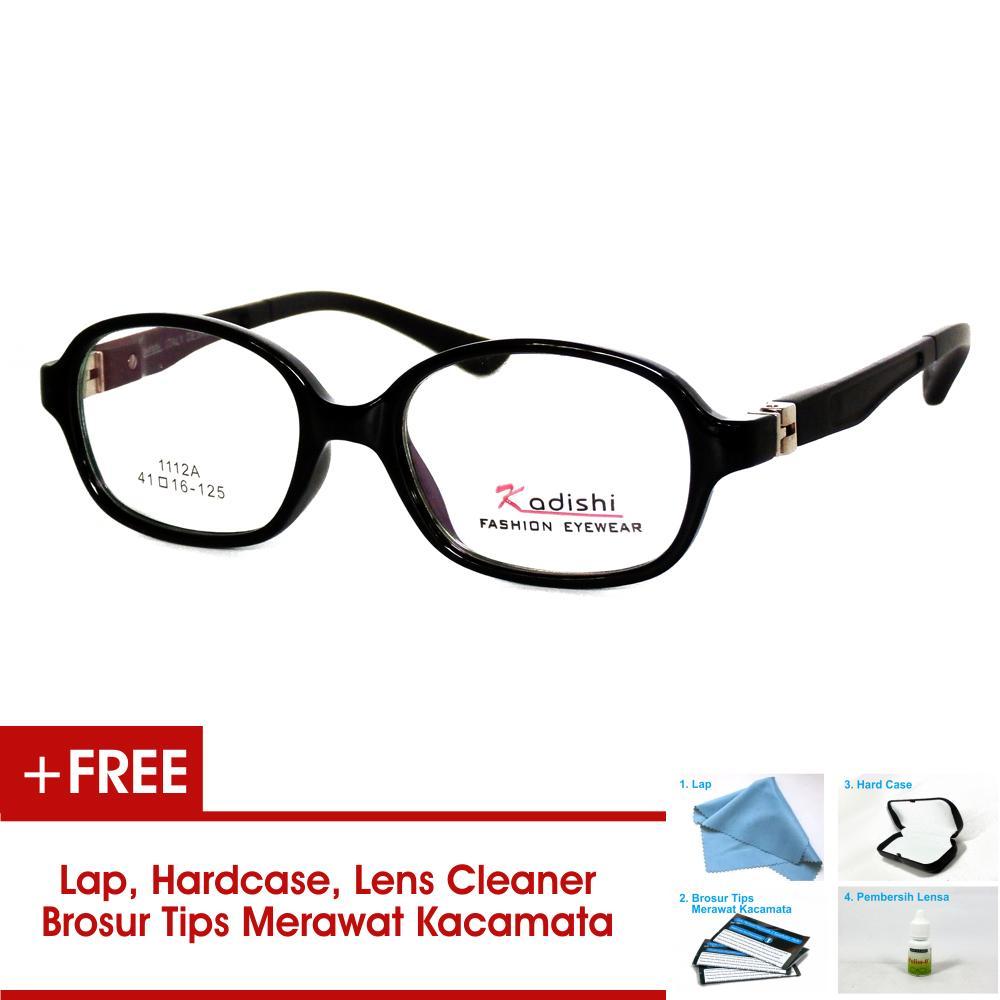 Frame Kacamata Anak FKIDS 1112A Hitam Bisa Dipasang Lensa Minus Di Optik Terdekat