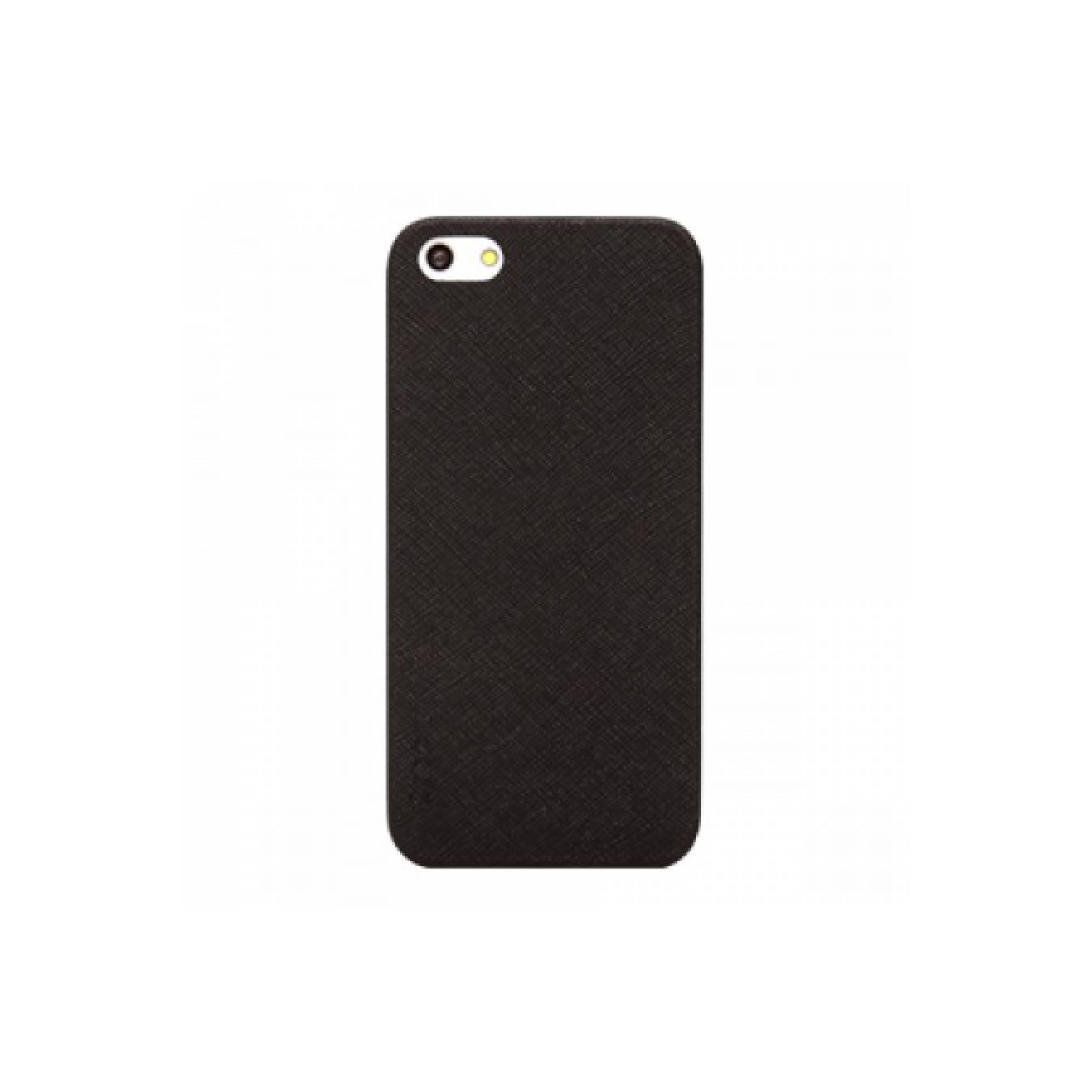 Colorant iPhone 5 Thin Leather Shell - Black [Packing Rusak]