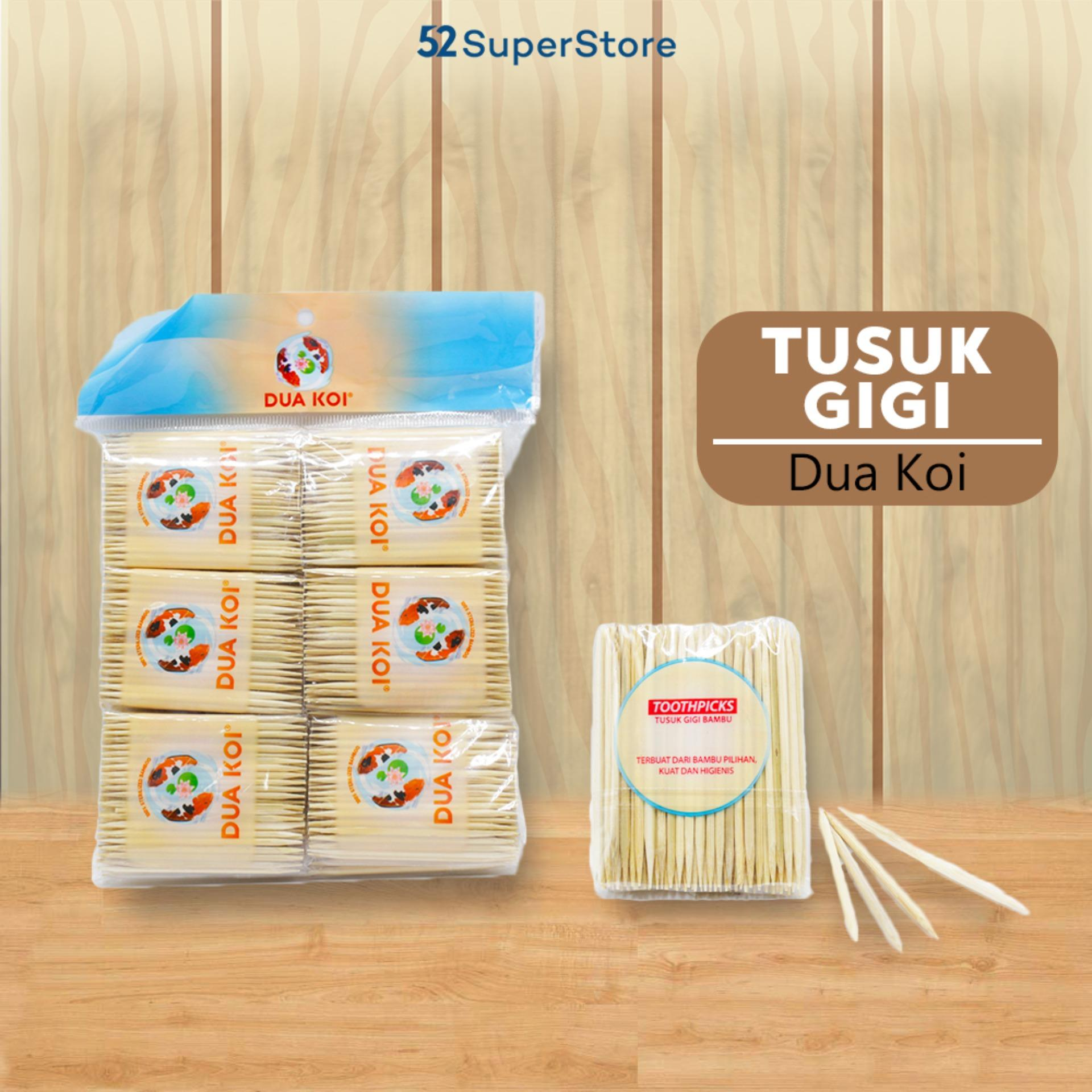 Buy Sell Cheapest 1 Pack Gigi Best Quality Product Deals Tusuk Aman 52 Home Bambu Dua Koi Isi Lusin 12