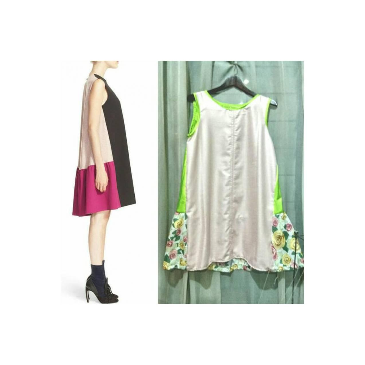 Jual Dress Color Blok 3 Tone Terima Jahit Dress Celana Rok Kaftan Dll