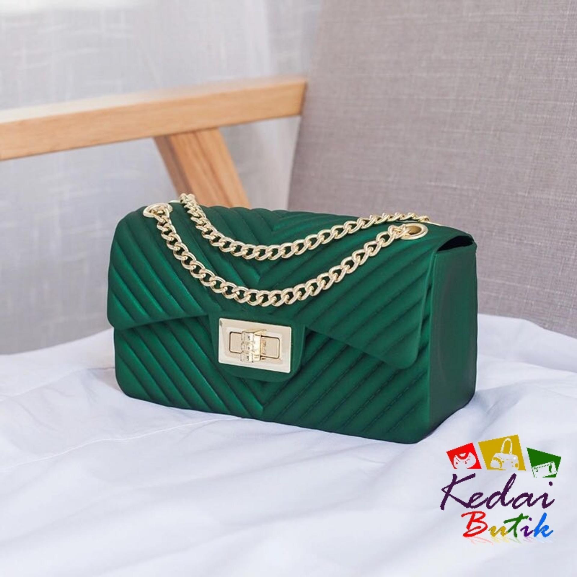 Kedaibutik-005 KECIL Tas Jelly Matte Chevron   Tas Premium plus boneka dan  syal   3bd3fabf91