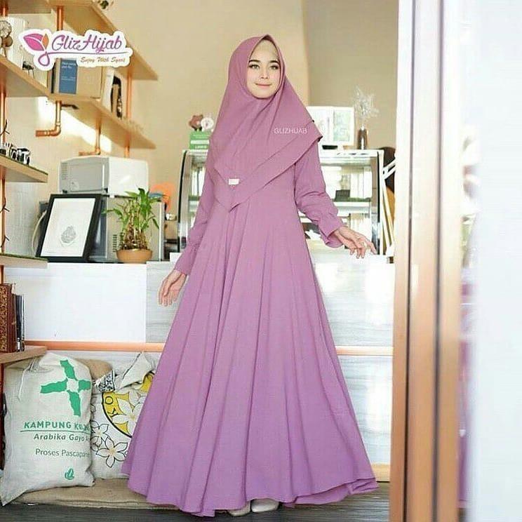 Baju Muslim Original Gamis Sally Syari Dress Baju Panjang Muslim Casual Wanita Pakaian Hijab Modern Modis Trendy Terbaru 2018