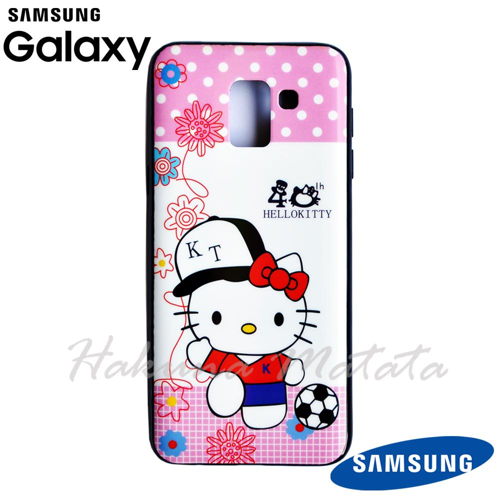 Soft Case for Samsung Galaxy J6 2018 Casing Gambar Hello Kitty 3D Hologram Double IMD