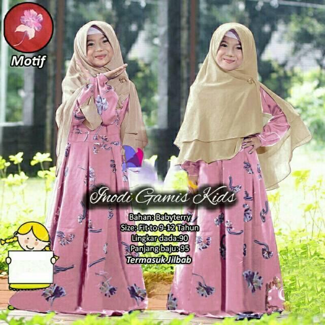 dandelia / GAMIS INODY KID(Vosgm) / maxi anak / dress anak / dress kids / baju anak perempuan / fashion muslim anak /syari anak / gamis anak / size 6-8th