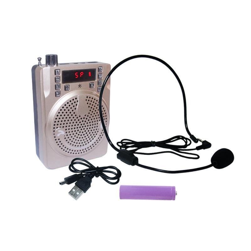 EELIC SPR-F558A SPEAKER MEGAPHONE PORTABLE SPEAKER RADIO MINI MICROPON AKUSTIK SPEAKER NYARING PEMUTAR AUDIO MP3 SPEAKER KARAOKE DENGAN MODUL MP3/USB/TF CARD/RADIO FM/AUX IN DAN TERDAPAT  LUBANG MIC YANG DAPAT DIGUNAKAN SEBAGAI SAMBUNGAN MIC (KARAOKE)