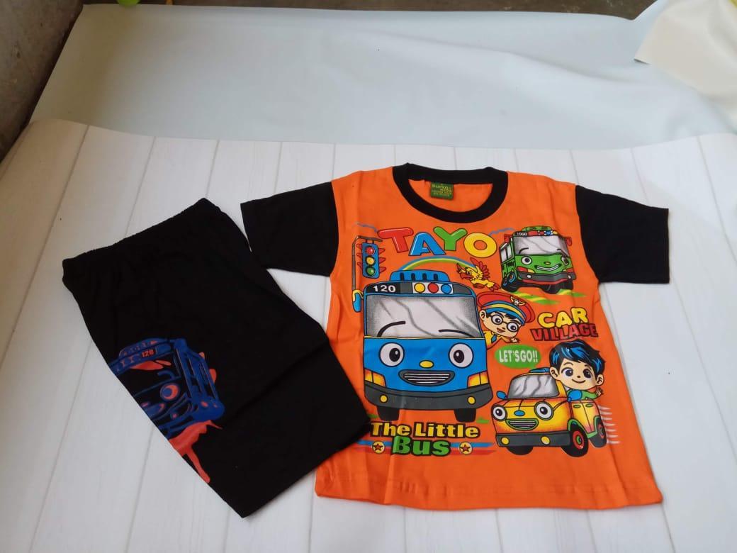 Segini Daftar Harga Setelan Anak Tayo Murah Terbaru 2018 Stelan Kaos Tshirt Baju Laki Usia 3 4 Tahun No