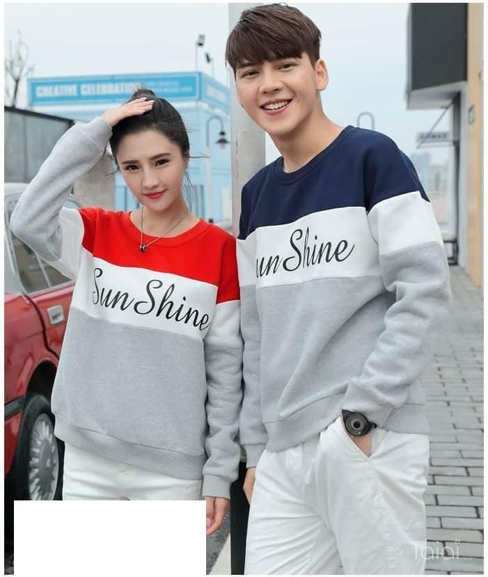 FASHION STORY - Sweater Couple Sunshine  Sweater Pasangan   Baju Couple    Model Terbaru 89fc0208ad